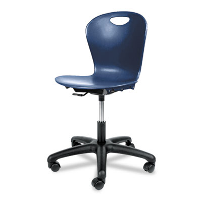 Adjustable-Height Task Chair, 24-1/8w X 24-1/8d X 30–34-1/2h, Navy
