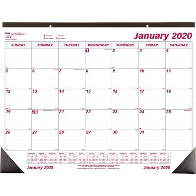 .com - Brownline® Brownline Monthly Desk Pad Calendar - Julian ...