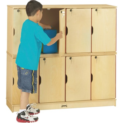Jonti-Craft Double Stack 8-Section Student Lockers - 48.5