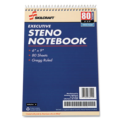 7530002237939 Executive Steno Notebook, 6 X 9, We, 80 Sheets, 12 Pads/Pack