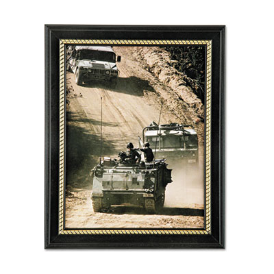 nsn4588210 skilcraft 7105014588210 military themed picture frame army black wood 8 1 2 x 11. Black Bedroom Furniture Sets. Home Design Ideas