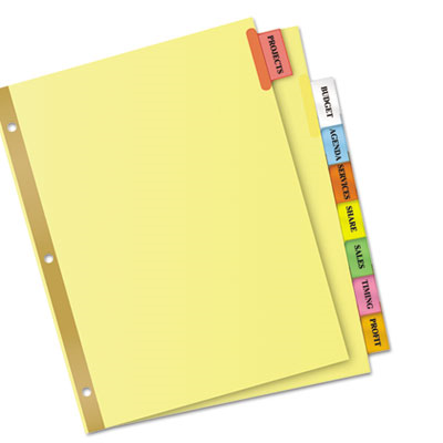 avery big tab inserts for dividers 8 tab template - ave11111 avery insertable big tab dividers 8 tab letter
