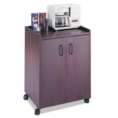 Mobile Refreshment Center, One-Shelf, 23w X 18d X 31h, Mahogany