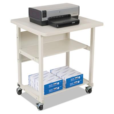 Heavy-Duty Mobile Laser Printer Stand, Three-Shelf, 27w X 25d X 27-1/2h, Gray