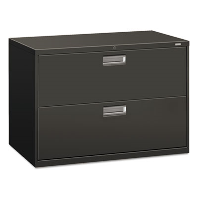 600 Series Two-Drawer Lateral File, 42w X 19-1/4d, Charcoal