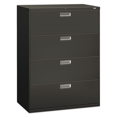 600 Series Four-Drawer Lateral File, 42w X 19-1/4d, Charcoal