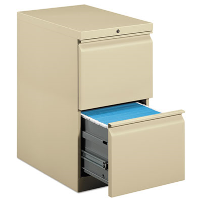 Efficiencies Mobile Pedestal File W/Two File Drawers, 22-7/8d, Putty
