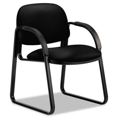 Sensible Seating Series Guest Arm Chair, Tectonic Fabric, Black