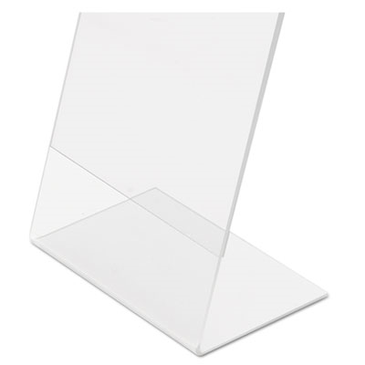 Classic Image Slanted Desk Sign Holder, Plastic, 8 1/2 X 11 Insert, Clear