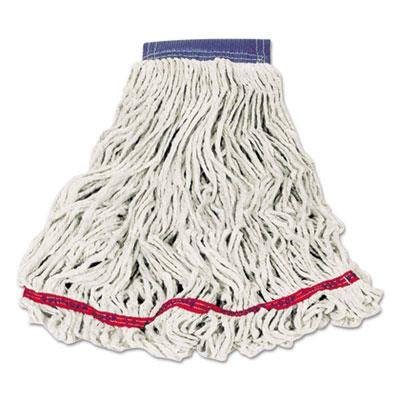 Rubbermaid Commercial Swinger Loop Wet Mop Heads Cotton Synthetic White X Large