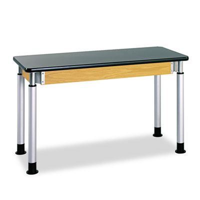 Adjustable-Height Table, Rectangular, 72w X 24d X 42h, Black
