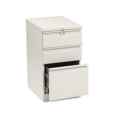 Efficiencies Mobile Pedestal File With One File/Two Box Drawers, 19-7/8d, Putty