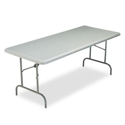 Indestructables Too 1200 Series Resin Folding Table, 72w X 30d X 29h, Charcoal