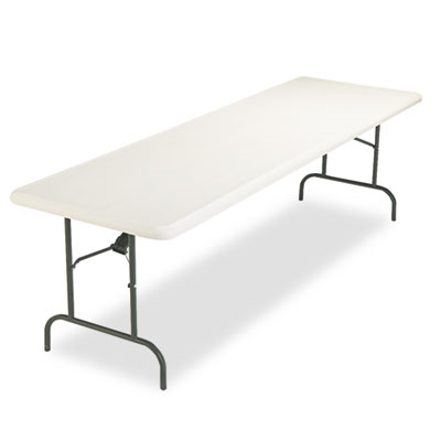 Indestructables Too 1200 Series Resin Folding Table, 96w X 30d X 29h, Platinum