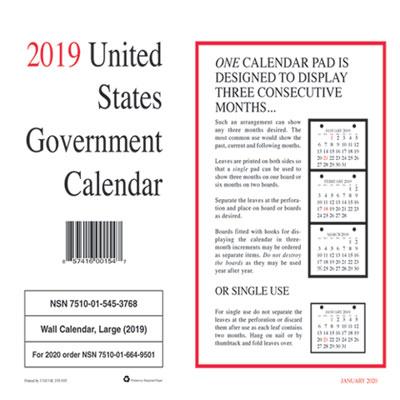 Ucr Calendar 2020 UCR6649501 : Unicor 7510015453768, Monthly Wall Calendar, 9 X 11