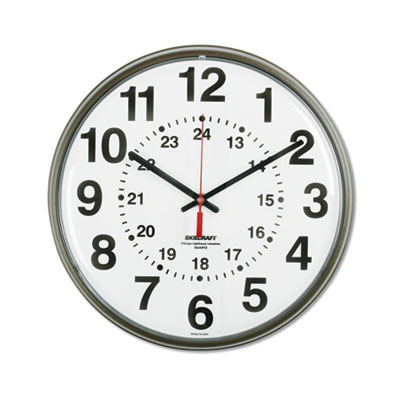 Nsn4919814 Skilcraft 6645014919814 Skilcraft Atomic Slimline Wall Clock 12 75 Overall Diameter Black Case 1 Aa Sold