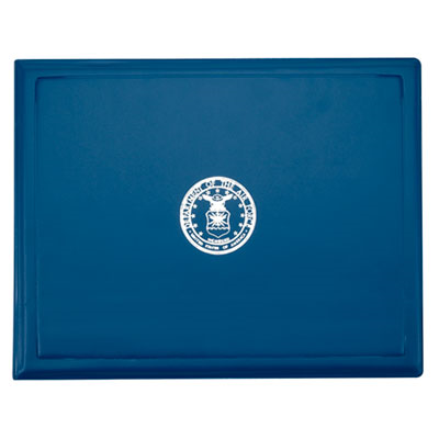 7510001153250 Award Certificate Binder, 8 1/2 X 11, Air Force Seal, Blue/Silver