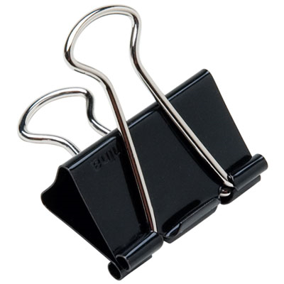 7510002236807, Binder Clip, Tempered Steel Wire, 1/2