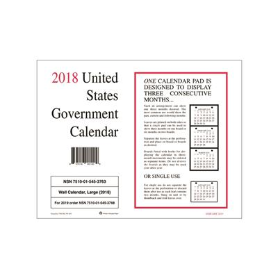 7510015453763 2018 wall calendar unicor